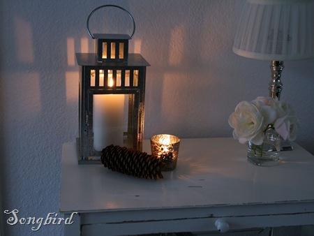 white cupboard distressed night