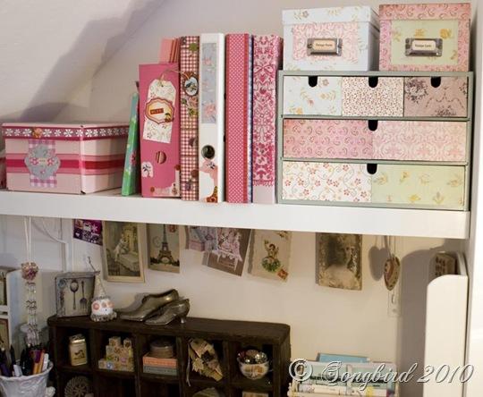 Craft Room Writing Shelf