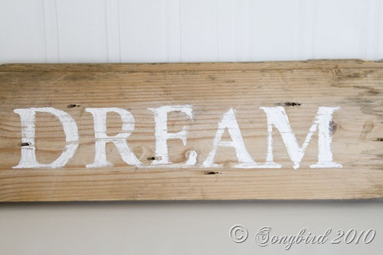 Handpainted guest room sign 3
