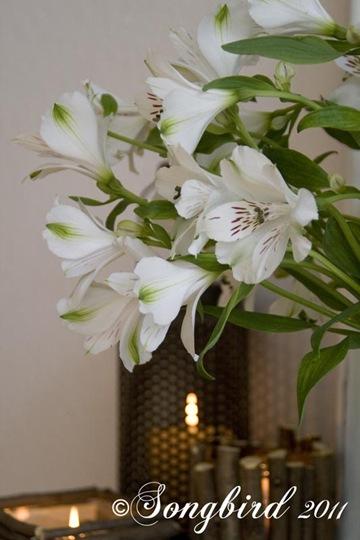 Spring White Mantel Vignette 1