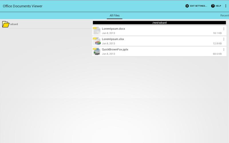 Office Documents Viewer Screenshot 2