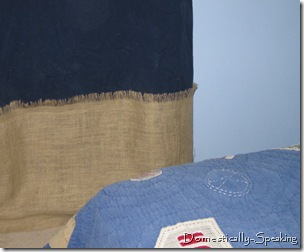 burlap closeup curtain