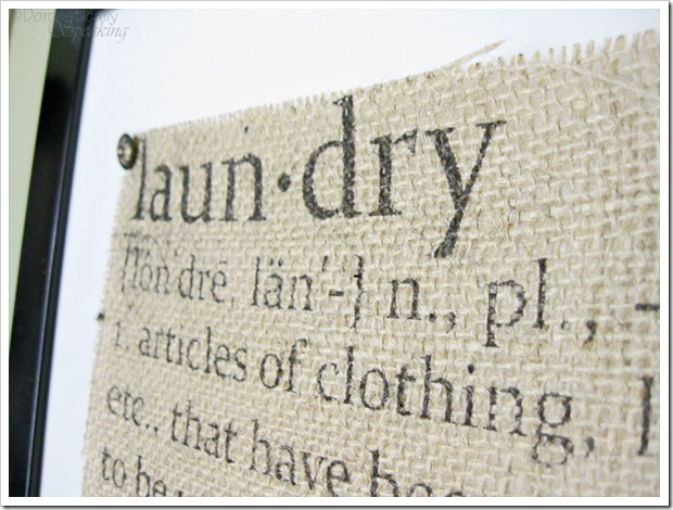 Laundry Defined Burlap Sign