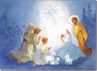 Різдвяний вертеп. Сценарій. Для дітей. 5 дійових осіб. Божі пастушки