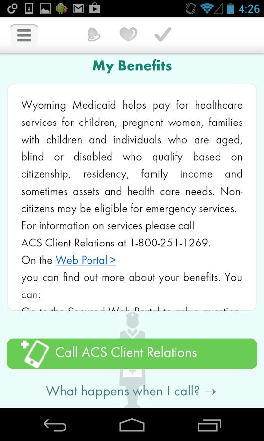 Due Date+ Wyoming Medicaid- screenshot