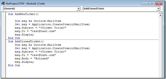 AdminMatt: Adding Macros and Custom Menu bars in Outlook for