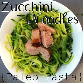 Zucchini Noodles {Paleo Pasta}.