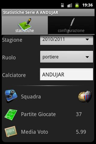 Statistics Serie A Magic - screenshot