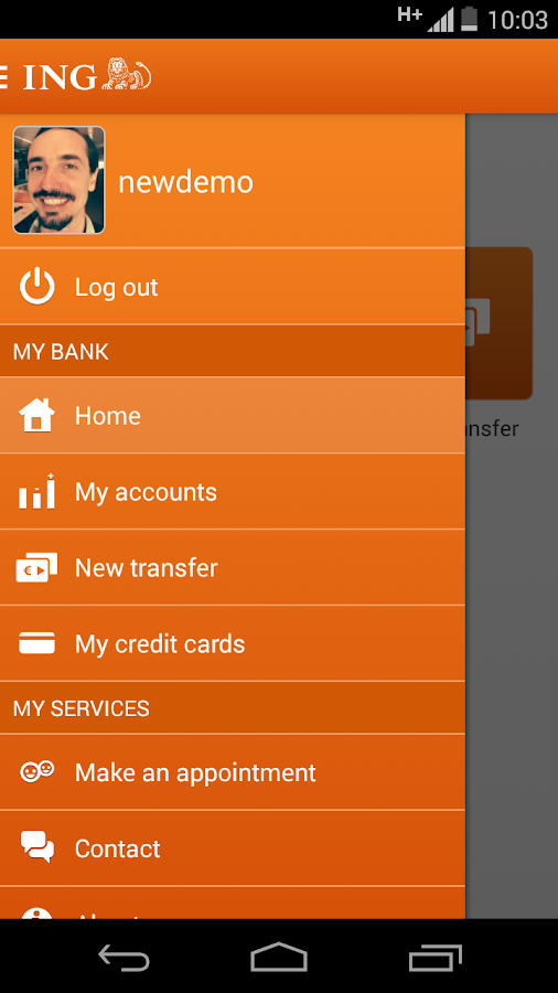 ING Smart Banking - screenshot