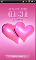 Screenshot of Hearts pink Go Locker theme