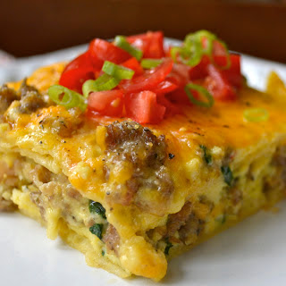 Sausage, Egg and Spinach Overnight Casserole Recipe