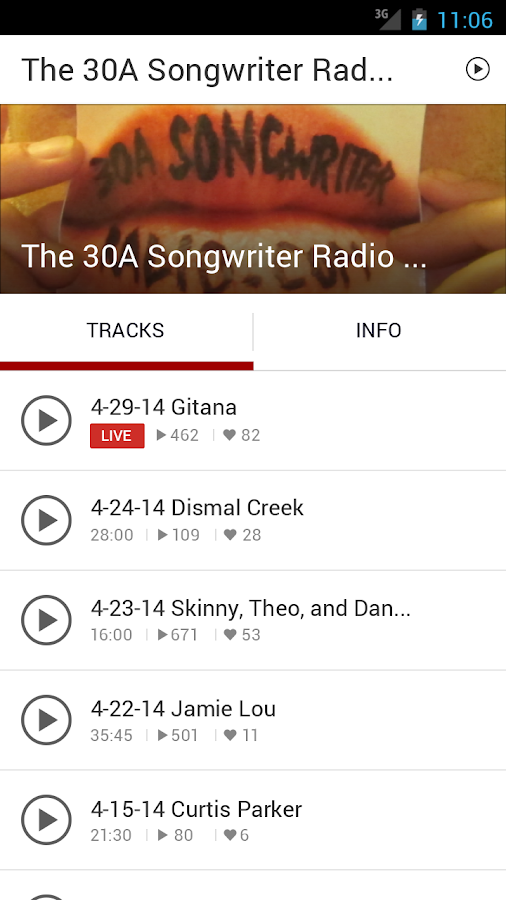 30A Songwriter Radio- screenshot
