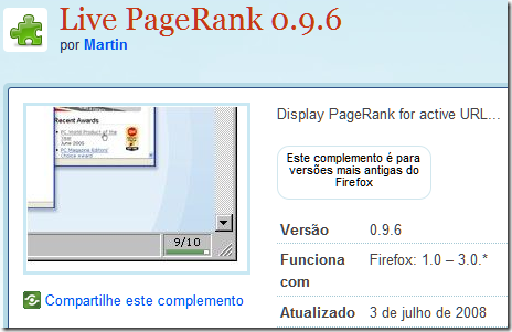 Live PageRank 1