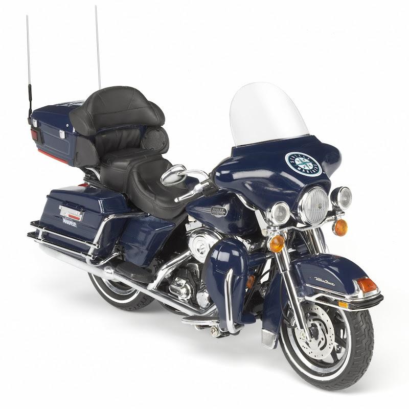 Seattle Mariners MLB Diecast Harley Davidson Motorcycle Model 1 12