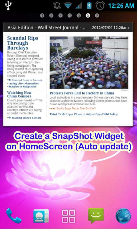 Websnap-Web capture,Web widget - screenshot