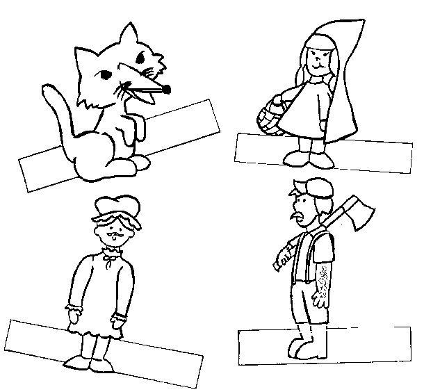 Marionetas De Papel Para Colorear