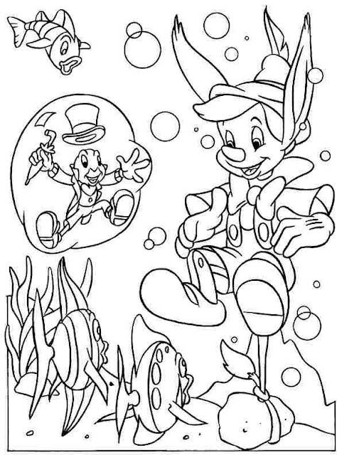 Colorear Pinocho Dibujos De Pinocho Para Colorear