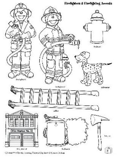 Dibujos De Bomberos Para Colorear