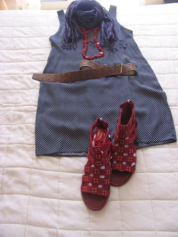 Outfits Anonymous New Look Pre Owned Navy Polka Dot Shift