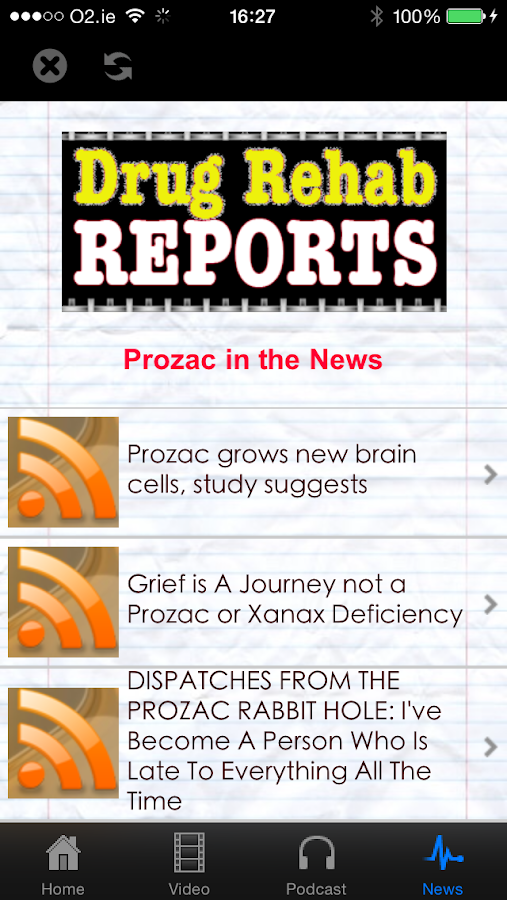 Fluoxetine drug card / The negative side effects of prozac