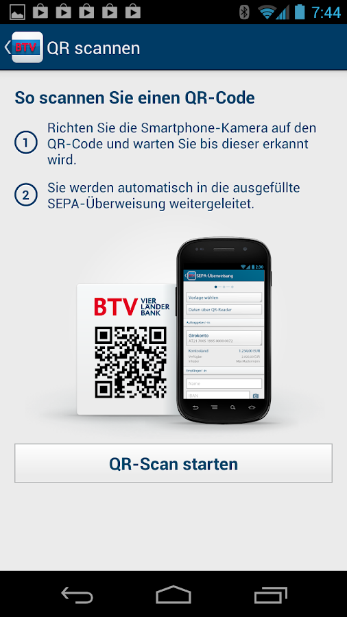 BTV Banking- screenshot