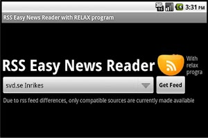 Screenshot of RSS Easy News Reader