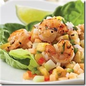Grilled Shrimp Melon Pineapple Salsa
