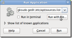 Screenshot-Run Application