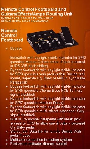 tony iommi 39 s cornish pedal board harmony central. Black Bedroom Furniture Sets. Home Design Ideas