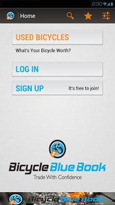 Bicycle Blue Book - screenshot