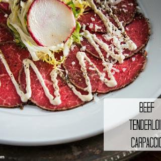 Beef Tenderloin Carpaccio