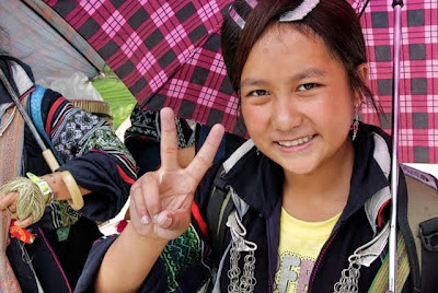 hmong child trekking guide
