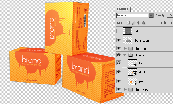 aligning the packaging design