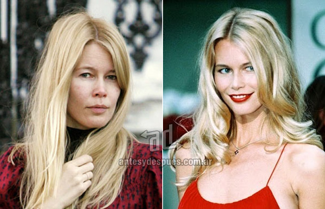 Claudia Schiffer without makeup