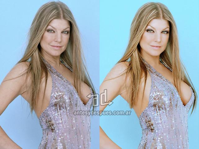 Fergie sin Photoshop
