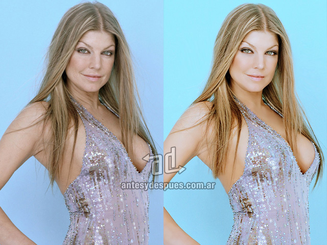 Fergie without Photoshop