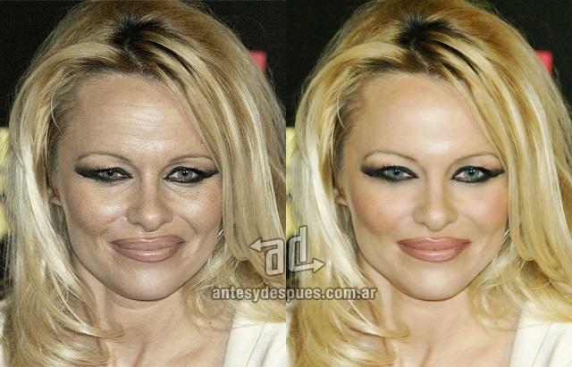 Pamela Anderson sin Photoshop