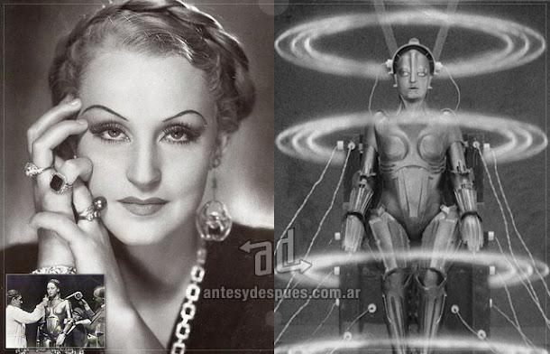 Brigitte Helm sin máscara