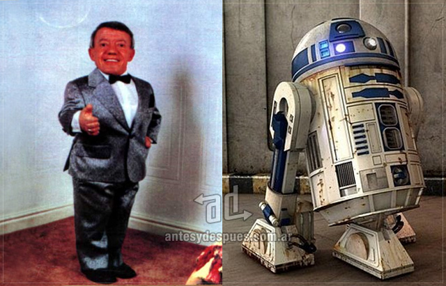Kenny Baker behind the mask