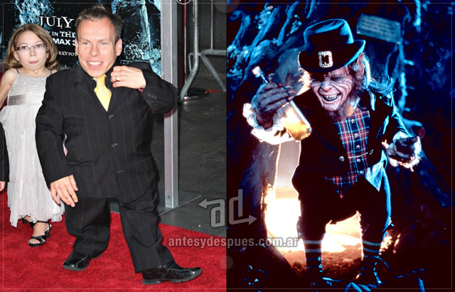 Warwick Davis behind the mask