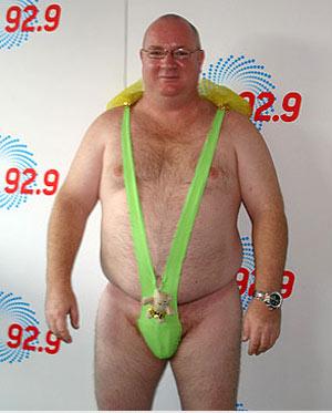 Speedo fat man in a thong excellent idea