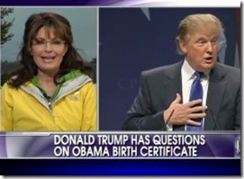 Sarah Palin appreciates Donald Trump investiating President Obama's birth