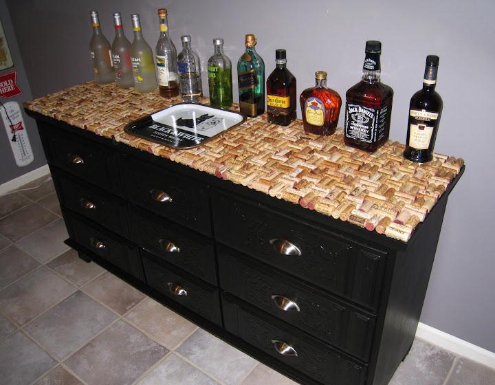 dresser wine cork