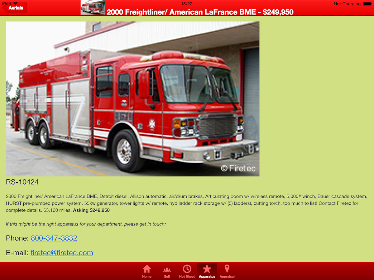 Used Fire Trucks by Firetec®- screenshot