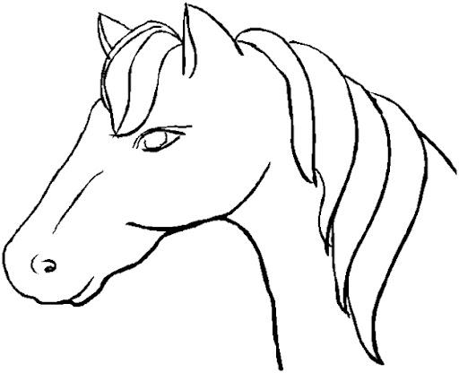 Dibujos De Caballos Para Colorear E Imprimir: Pinto Dibujos: Dibujos Para Colorear De Caballos Y Equitación