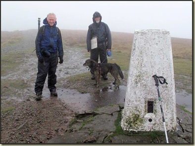 On the summit of The Calf, 676 metres