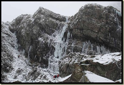 Ice climbers in Cwm Idwal