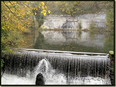 The weir at Cressbrook