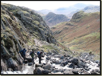 Approaching Stickle Tarn from Stickle Ghyll