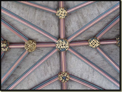 Exeter Cathedral - ceiling detail